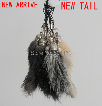free shipping mini real fur keychain for mobile  phone fur colors natural  fox fur key chain for gift
