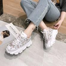 GYP women's sports shoes 2019 new white flowers rhinestone