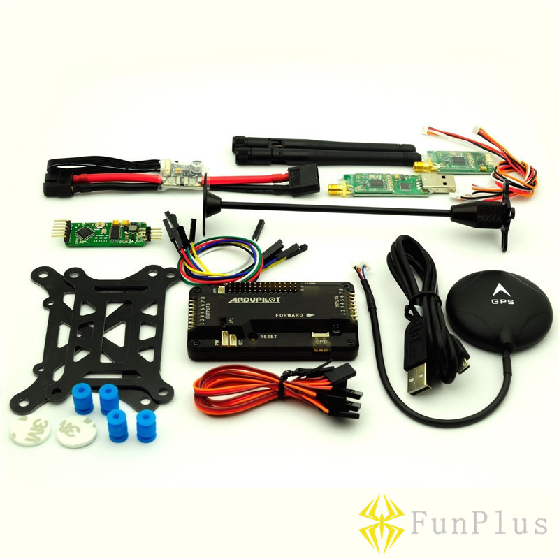 Side Pin APM2.8 Flight Controller NEO-6M GPS 433Mhz Telemetry OSD Power Module Remote Controller Hexacopter Multicopter