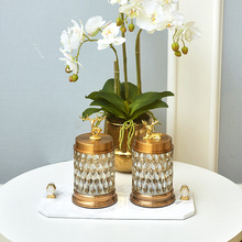 European style crystal clear glass Candy cans American Storage tanks. Decorative vessels Creative floral Ornaments decorat