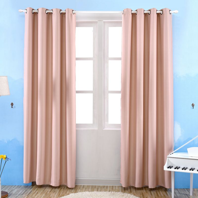 Bedroom Curtains Blackout Thermal Solid Window Curtain For Living ...