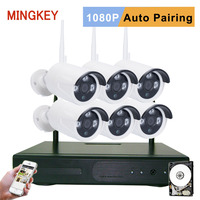 Mingkey 1080P Wireless Security Camera System 8CH 2 0MP IP CCTV Kit 6PCS IP CameraNight Vision