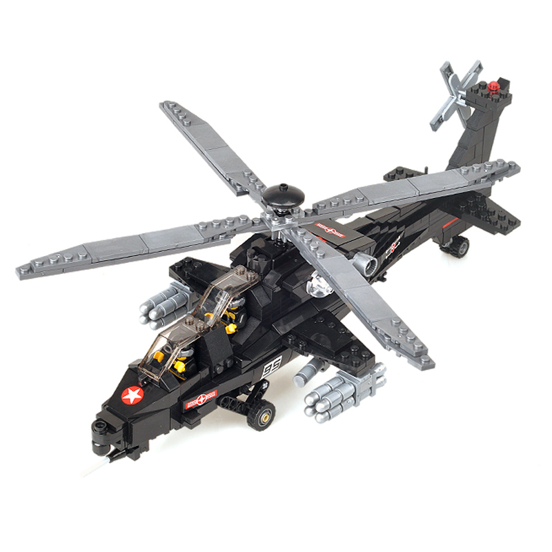 KAZI 98405 Military Helicopter WZ-10 Model Building Blocks Sets 480pcs Educational Bricks Toys For Children Christmas Gifts 2017 kazi 98405 wz 10 military helicopter blocks 480pcs bricks building blocks sets enlighten education toys for children