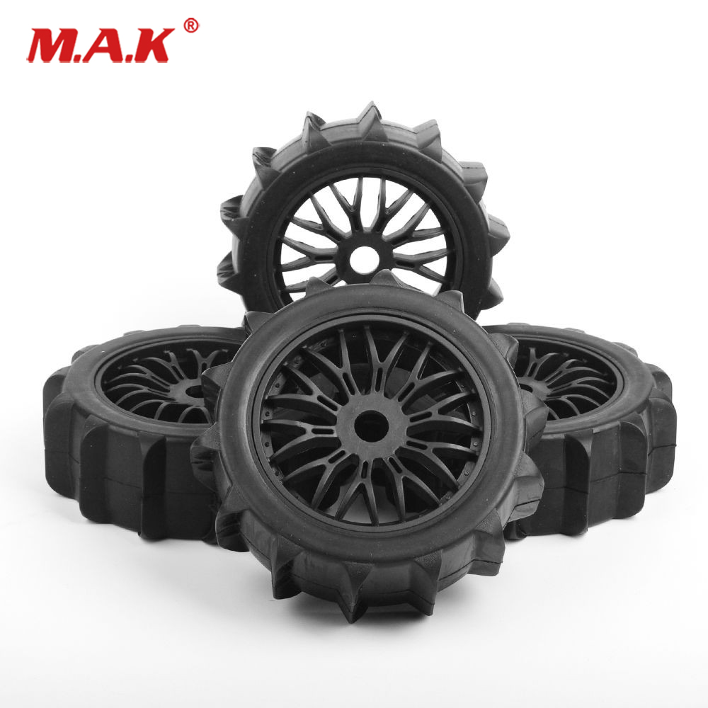 4Pcs/Set Snowfield Desert Tires Wheels Rims 17mm Hex fit 1/8 RC Buggy Off Road Car Accessories