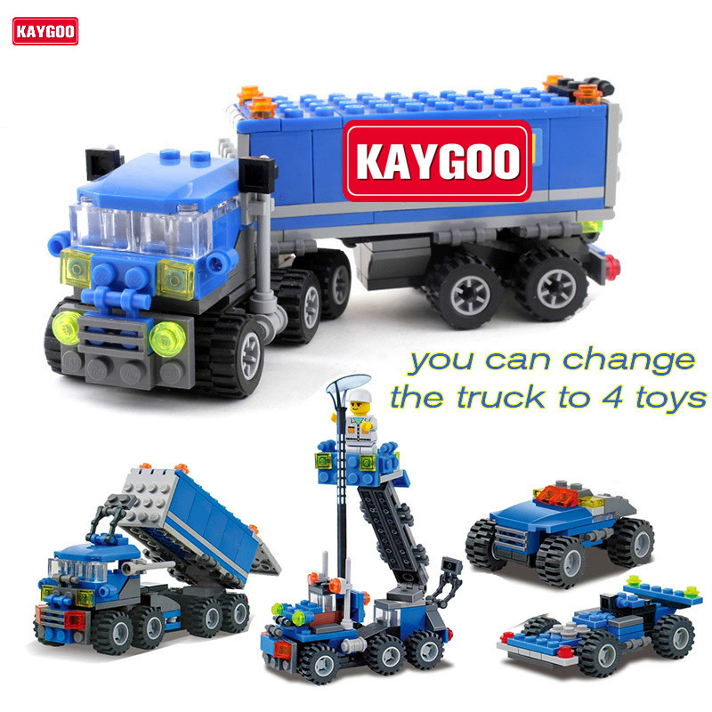 Kaygoo Christmas gift Educational Child 6409 educational toys Dumper Truck KAZI DIY toys building block sets,children toys new original kazi 6409 city truck model building blocks sets 163pcs lot deformation car bricks toys christmas gift toy sa614