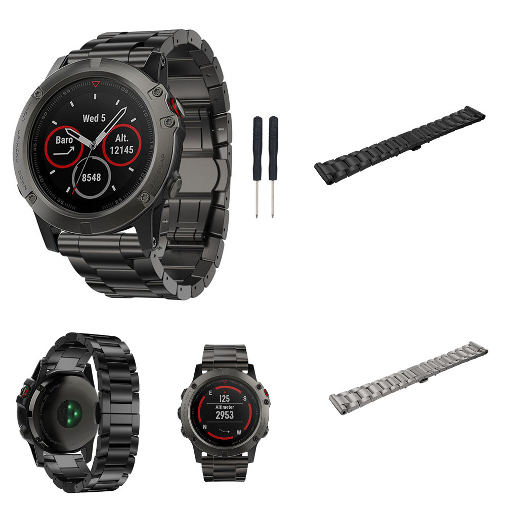 OTOKY Titanium Steel Bracelet Wrist Strap Smart Watch Band For Garmin Titanium metal Fenix 5X GPS Drop ship gift jul17 P30 silicone replacement wrist band strap bracelet for polar v800 sport smart watch t50p drop ship