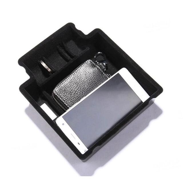 1 Pc ABS Bandeja de Armazenamento Caixa de apoio de Braços Central Carro Interior Multi Utility Box Recipiente Apto Para Macan 2015