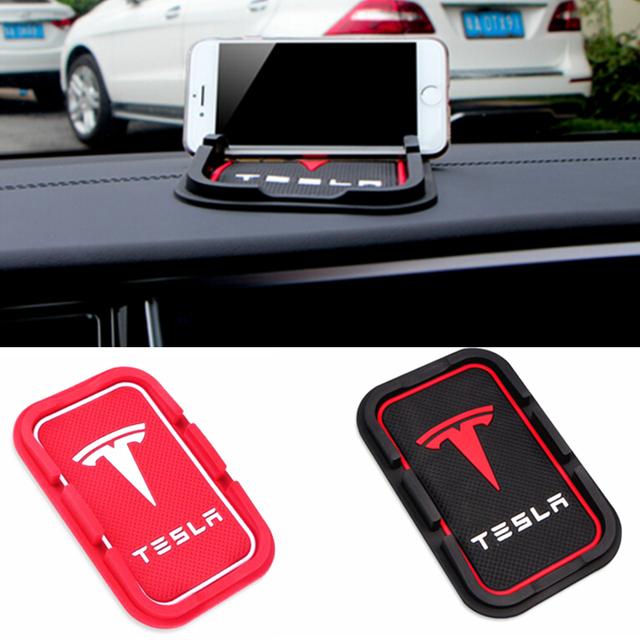 PVC Phone Anti Slip Mat Holder Support Bracket Mount for Tesla Model S Model X 75D 90D P100D Interior Mat Holder Accessories HQ