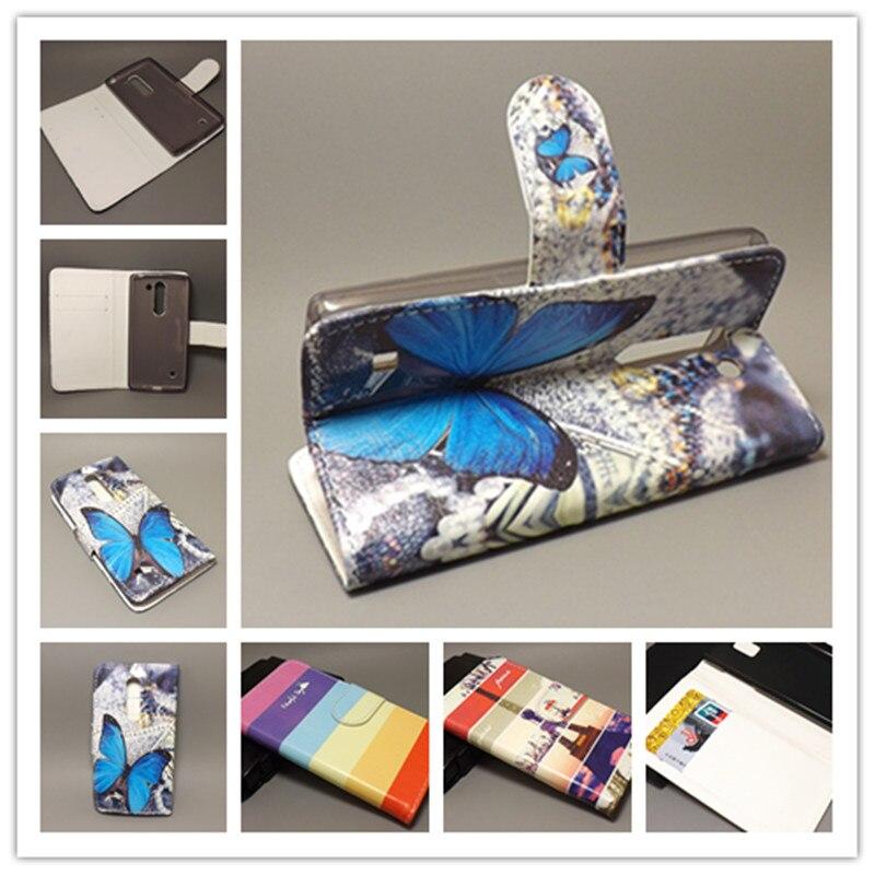 New Butterfly Flower Flag Designer Wallet Flip Stand Book Cover Case for LG Spirit 4G LTE H440N/3G H422 C70freeshipping