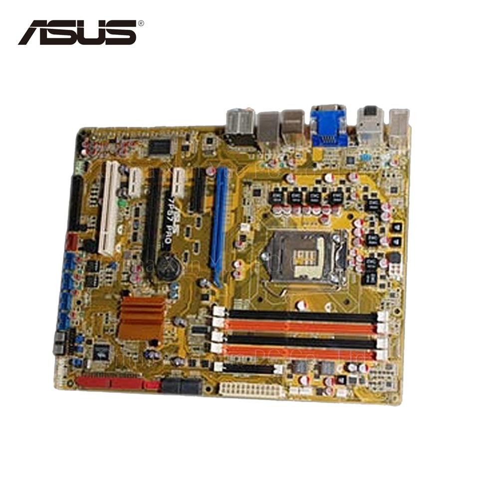 Original Used Asus P7P57 PRO Desktop Motherboard P57 Socket LGA 1156 DDR2 SATA2 ATX 100% Fully Test original used asus p5kpl desktop motherboard g31 socket lga 775 ddr2 sata2 atx 100% fully test