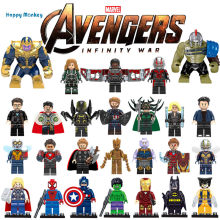 Avengersly 4 Superly heros and Ninjagoly Thanos Hulk Gamora Building Blocks Compatible with LegoINGlys Marvel Toys wy30(China)