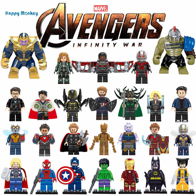 Avengersly 4 Superly heros and Ninjagoly Thanos Hulk Gamora Building Blocks Compatible with LegoINGlys Marvel Toys wy30