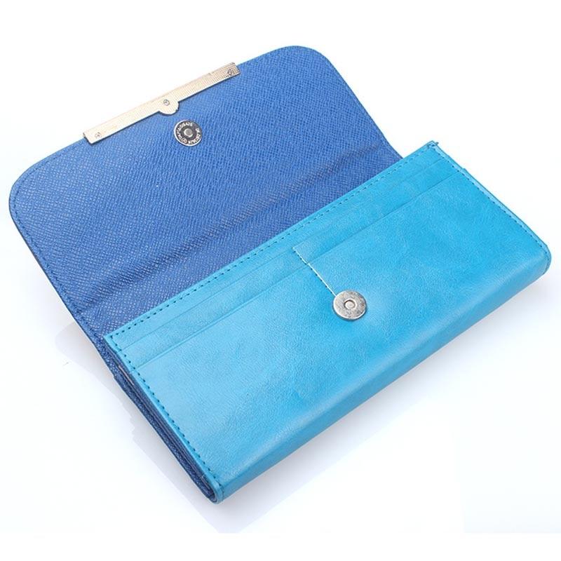Новый бренд Дизайн корейский шить Цвет бумажник PU мешок карточки леди рук кошелек Длинные Роскошные раздел Кошелек Высокое качество 40