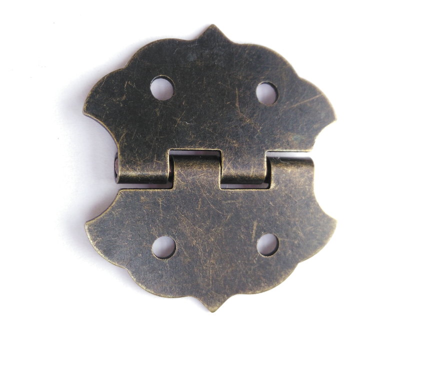 100pcs 28mm*30mm 180 Degrees Antique Butterfly Hinge Small Hardware Wooden Wine Gift Box Case Cabinet DIY Accessories 200pcs 18 15mm hinge brass bronze color flat wholesale small hardware for wooden box case cabinet drawer door funiture fix