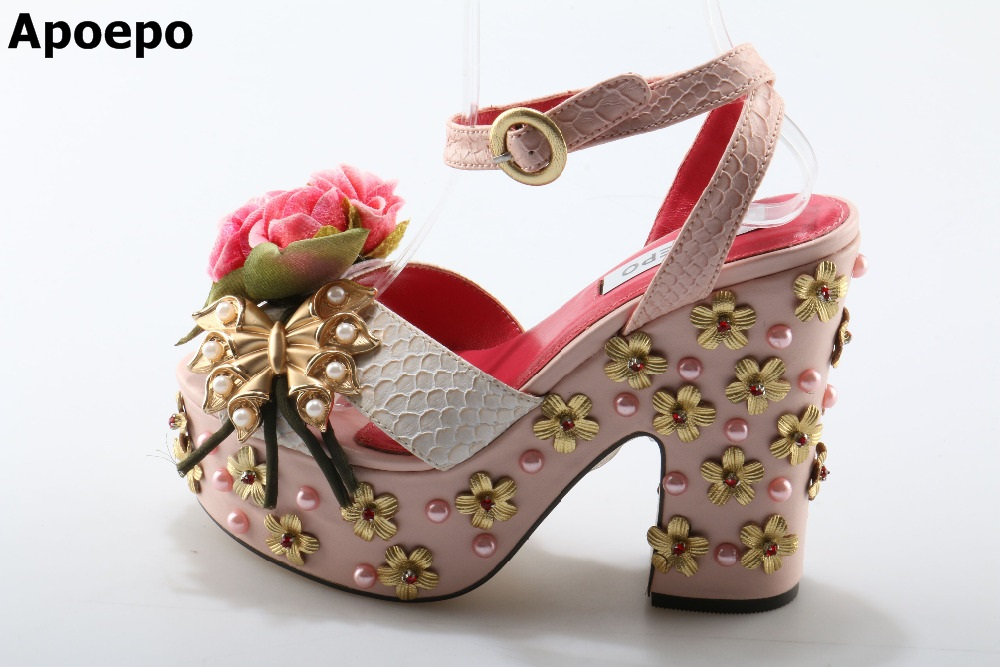 Flowers String Bead Luxury Women Shoes Newest Fashion Cheap Price Best Quality Hot Selling Special Noble Platform Buckle Pink knee high boots snakeskin women shoes newest fashion cheap price best quality hot selling new designer luxury special noble