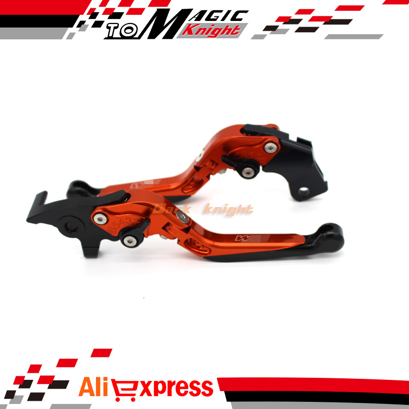 ФОТО For KTM 690 DUKE R 2014-2015 Motorcycle Accessories Adjustable Folding Extendable Brake Clutch Levers LOGO