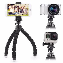 цена Tripod For Phone Mobile Camera Holder Clip Smartphone Monopod Tripe Stand Octopus Mini Tripod Stativ For Phone Stand Phone Stand онлайн в 2017 году