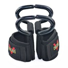 1 Pair Padded Adjustable Weight Lifting Hooks Fitness Bodybuilding Strength Training Wrist Wraps Straps Gym Wrist Support Bands