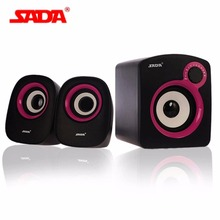 Fashionable SADA D-200B Mini Portable Stereo Desktop PC Laptop Mobile Phone Speaker 3.5mm Audio Jack USB Powered Amplifier