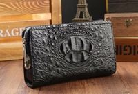 Luxury Quality Genuine Crocodile Skin Leather Men Wallet clutch with password lock Alligator skin bank card license holder case