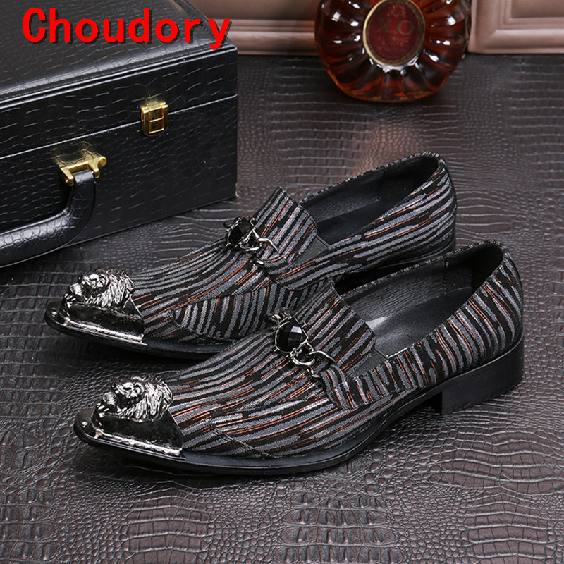 Choudory sapato social masculino steel toe mens classic shoes velvet loafers slip on causal party wedding men prom shoes