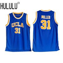 187f88420203 Cheap Mens Reggie Miller 31  UCLA College Basketball Jerseys Blue Throwback  Stitched Embroidery Retro High Quality Shirts