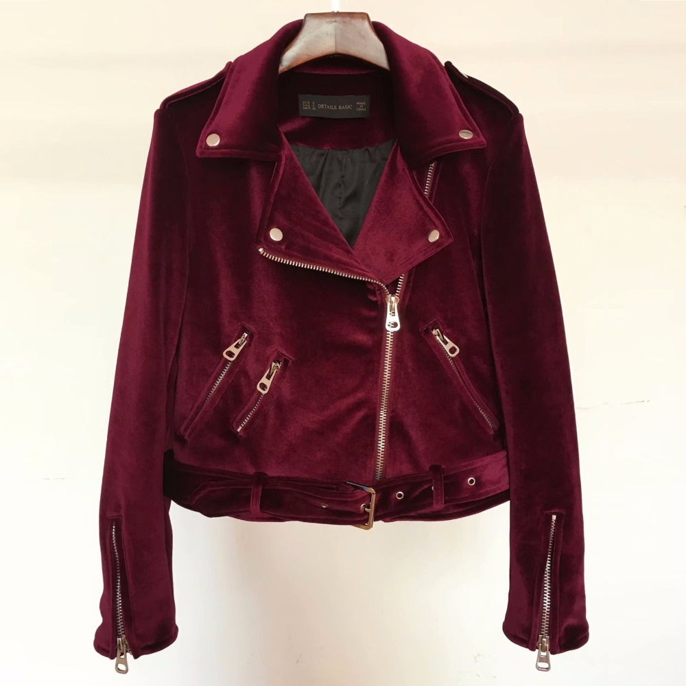 2018 New Velvet Women Padded Coat basic Coats jacket Slim Zipper Short Ladies Solid Jacket streetwear