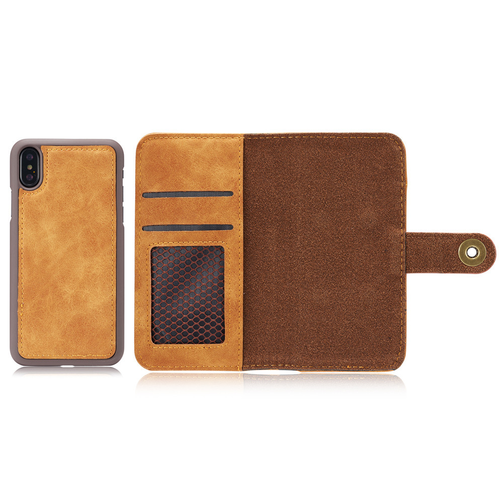 Vintage Leather Pouch Magnetic Wallet Case For Apple iPhone X XR XS Max Matte Cover Detachable 2 in 1 Hot Sale Drop Shipping in Wallet Cases from Cellphones Telecommunications