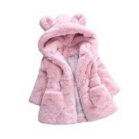 2017 Winter Baby Girls Faux Fur Fleece Coat Party Pageant Warm Jacket Xmas Snowsuit Baby Outerwear