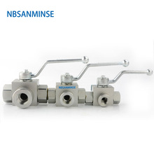 Hydraulic Ball Valve KHB 3-Way Valve Male Thread KHB3K - G 3/4 1 1-1/4 1-1/2 High pressure valve  Sanmin