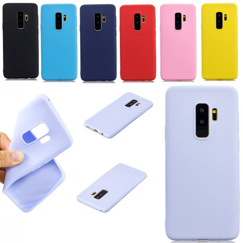 Matte Candy Color Silicone TPU Cases For <font><b>Samsung</b></font> Galaxy S9 S8 J3 J4 J5 J6 J7 J8 A3 A5 A6 <font><b>A7</b></font> A8 A9 2017 Plus <font><b>2018</b></font> A750 Cover <font><b>Capa</b></font> image