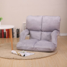 Single Foldable Lazy Sofa with Handle and Backrest Tatami Modern Simple Multifunction Bedroom Floor Sofa Breathable Living Room(China)