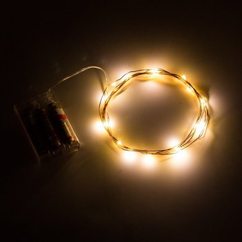 5M 50LEDs 3AA Battery Operated Mini Micro LED Lights String For Wedding Party Event decorations silver copper wire