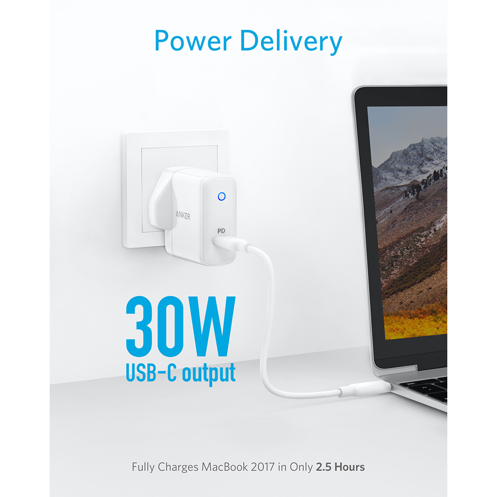 Image 2 - Anker PowerPort Speed 1,USB Type C 30W Wall Charger &Power Delivery for HTC 10,Nexus,LG,Pixel C,Samsung W700, MacBook,iPad etc-in Mobile Phone Chargers from Cellphones & Telecommunications