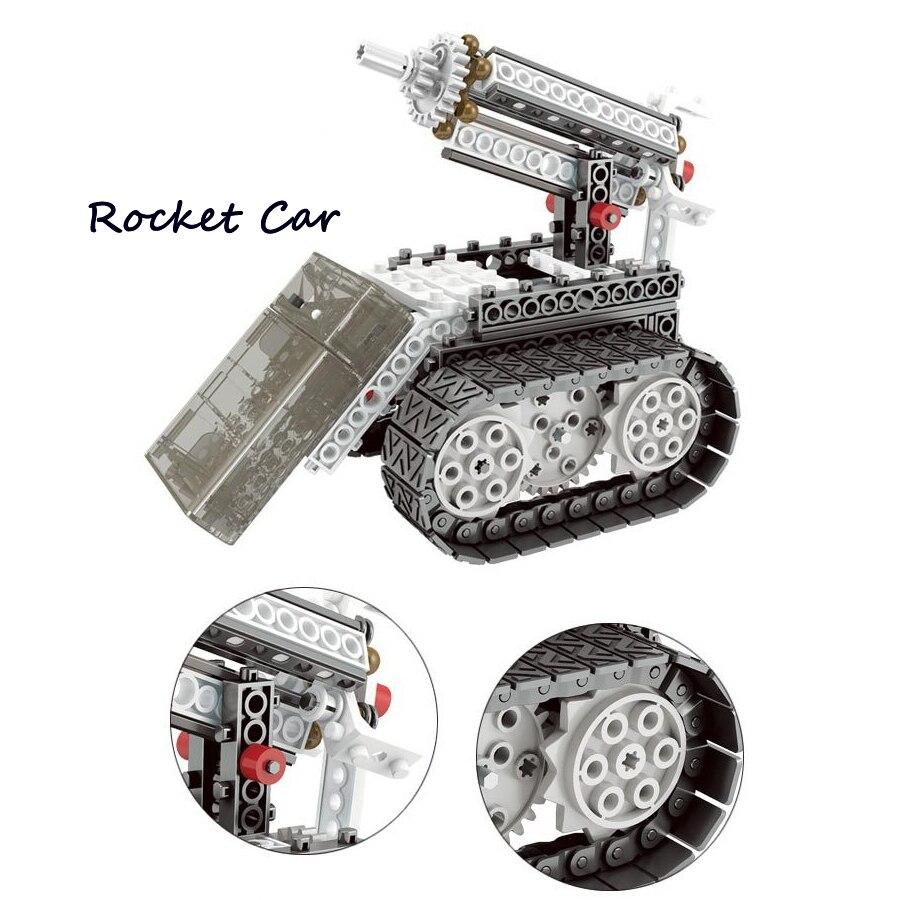 Bricolage 4-en-1 jeu de Construction RC contrôle robotisé Vechicles Robots d'exploration spatiale motorisés tige éducatifs blocs d'apprentissage kit - 4