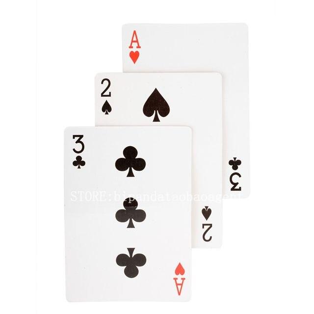 2pcs-HotMagic-ultimate-3-three-card-monte-poke-Trick-Classic-Sunflowermagic-Card-cubes-d22-5