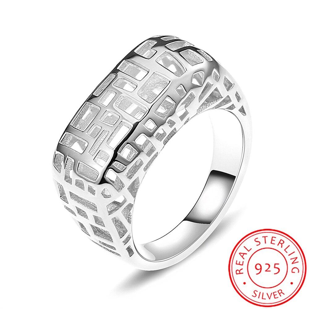 Legenstar anneaux de mariage pour femmes Vintage anneau de doigt évider argent 925 bijoux bague de fiançailles 3 dimensions anneaux de Designer - 2