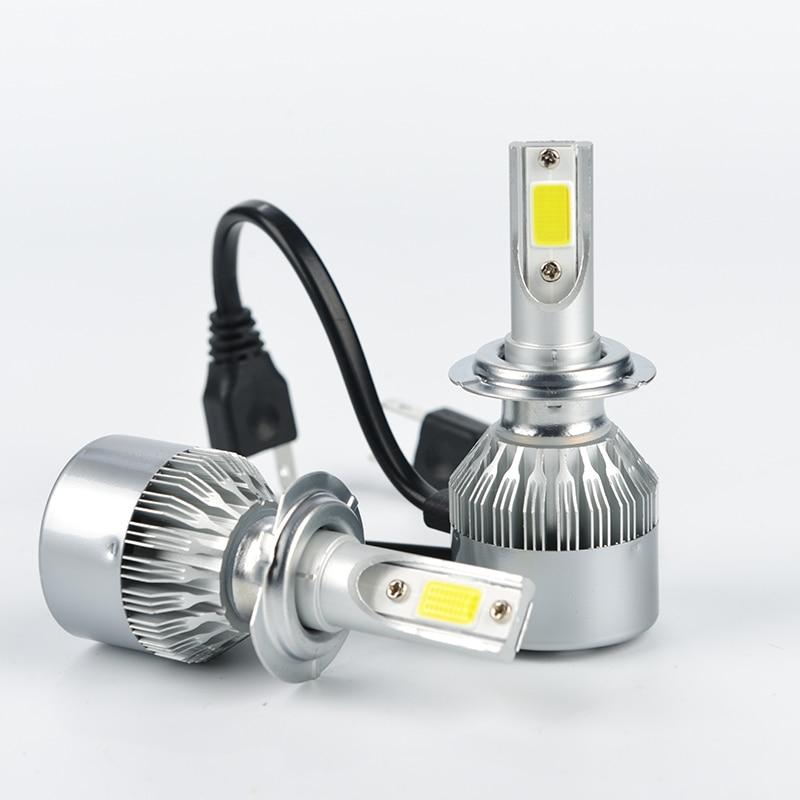 2X H1 6000K 36W HID LED Fog Lamp C6 Cob LED Headlight Light Kits 3800lm New
