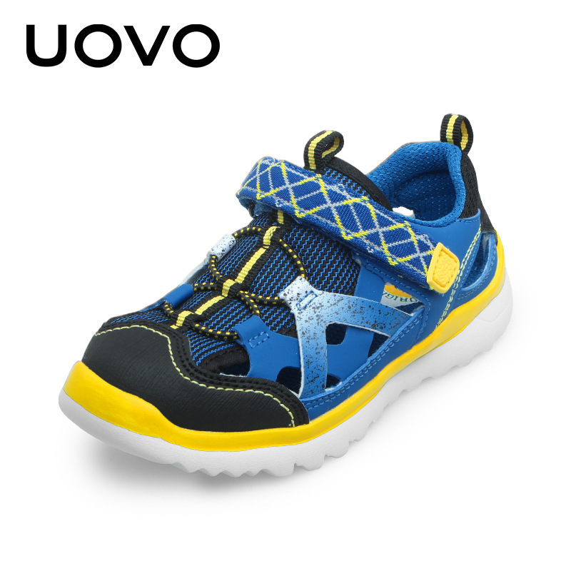 UOVO 2017 Summer Kids Sandals Breathable Sport Boys Sandals Light Weight Beach Shoes Girls Sandals Comfortable Size 28-37