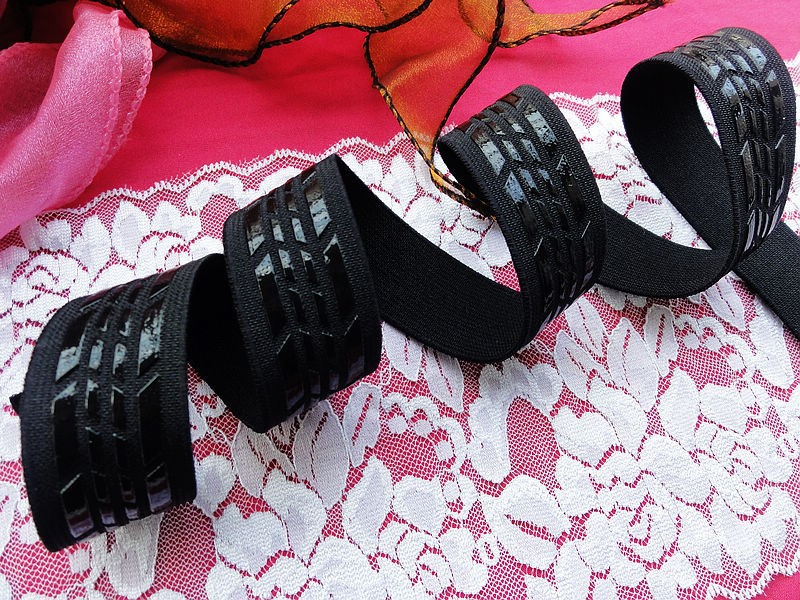 Ev ve Bahçe'ten Elastik Bantlar'de 50 metre 25mm elastik dokuma spor giyim için silikon kaymaz esnek bant yüksek kaliteli elastik bant DIY aksesuarları'da  Grup 1
