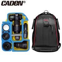 Caden professional Camera bag backpack shoulders waterproof black photography insert bags case for canon Sony mochila fotografia