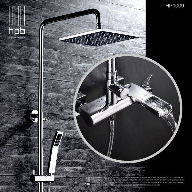 HBP Bath Tub Faucet With Slide Bar Wall Mounted Shower Set Mixer Tap ...