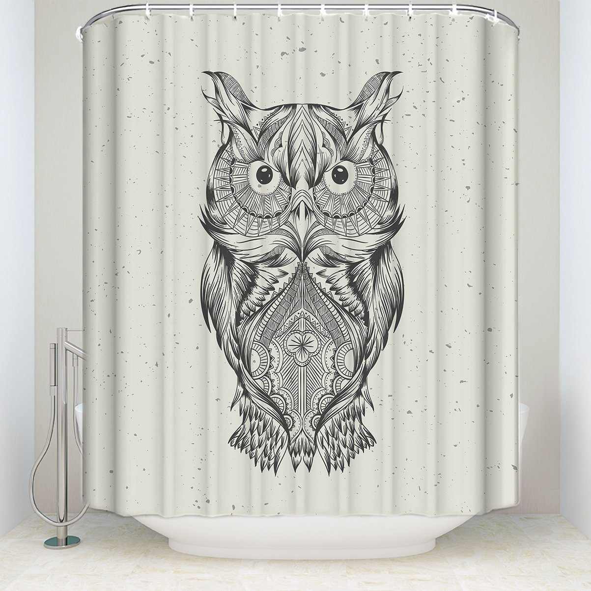 Owl shower curtains - Artistic Retro Owl Shower Curtain Animal Fabric Bathroom Cute Owl 100 Polyester 48x72in China