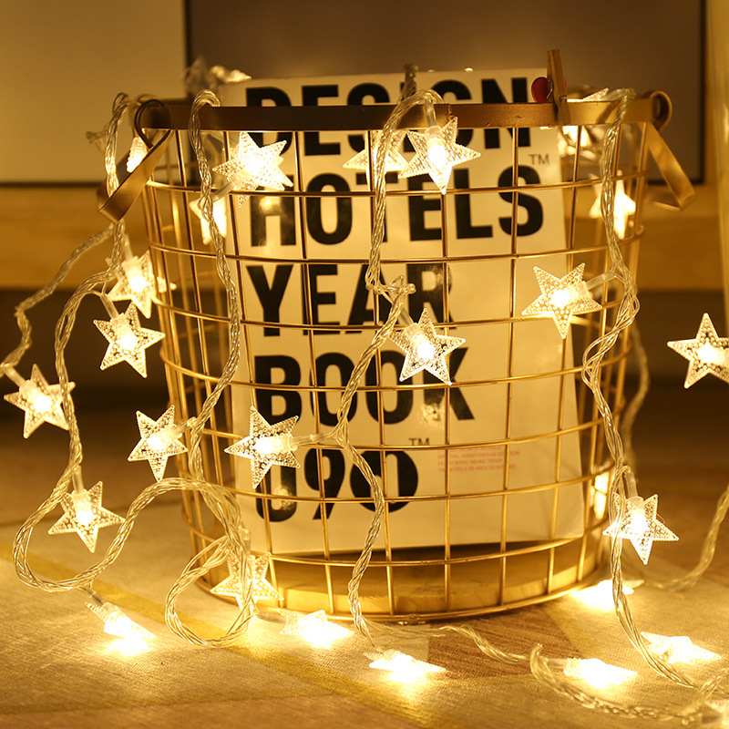 10/20 LED Star Lights String Twinkle Garlands Battery Powered Christmas Lamp Holiday Party Wedding Decorative Fairy Lights,Q