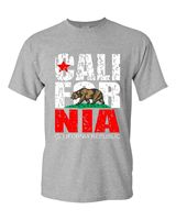 Fitted T Shirts Men S Short New California Republic Vintage California State Bear Flag Souvenier O