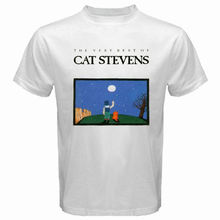 New Kitten STEVENS Rock Folk Music Singer Legend Men's White T-Shirt Size S To 2XL Sleeve T Shirt Summer Men Tee Tops Clothing