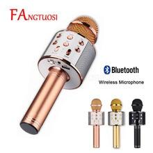 Bluetooth Беспроводной микрофон WS-858 ручной караоке Mic USB КТВ плеер Bluetooth Динамик записи музыки микрофоны WS858