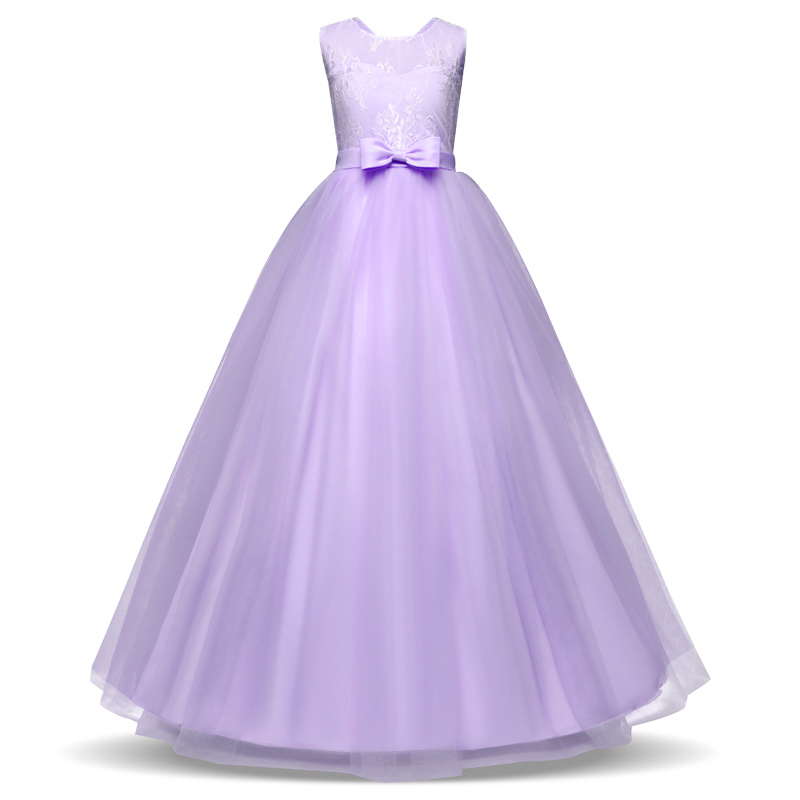 Elegant Lace Princess Girl Christmas Party Dress Wedding Gown Kids Dresses For Girls Dress Children Clothing Teens 8 12 14 Year 6