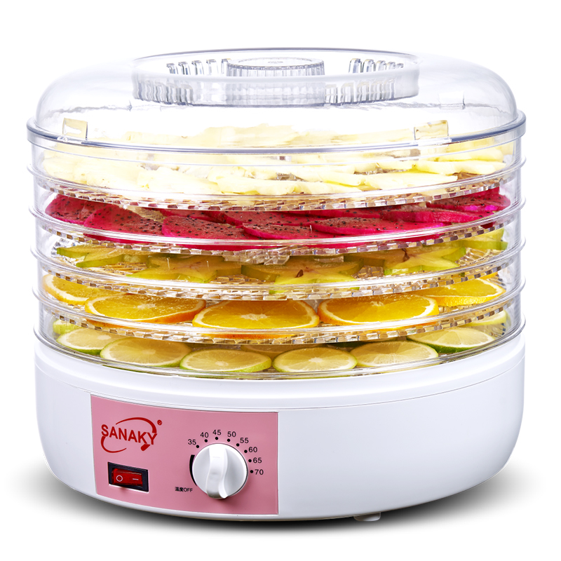 Authentic SANAKY Plug Food Dehydrator Fruit Vegetable Herb Meat Drying Machine Snacks Food Dryer Fruit dehydrator with 5 trays shanghai kuaiqin kq 5 multifunctional shoes dryer w deodorization sterilization drying warmth