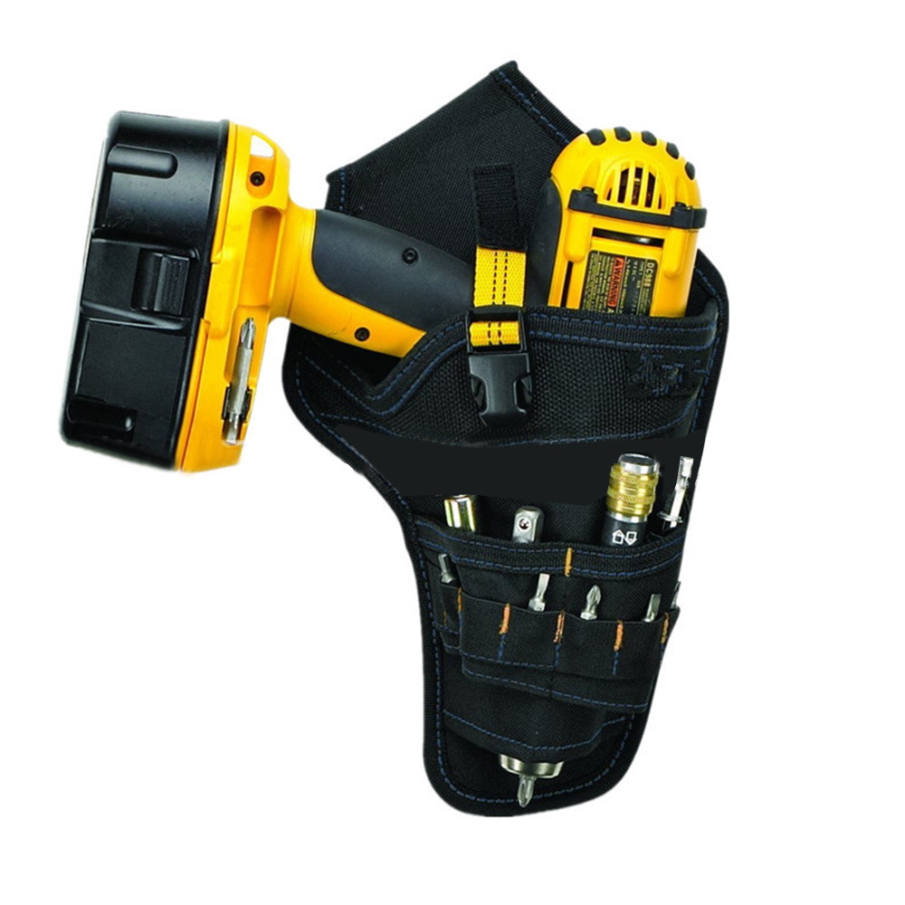Heavy-Duty Cordless Drill Holster Tool Belt Pouch Bit Holder